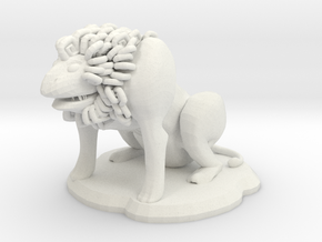 Fu Lion Figure in White Strong & Flexible