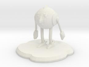 Stealpunk Figure in White Natural Versatile Plastic
