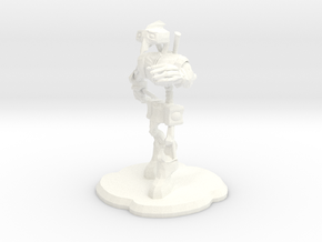 Steampunk Figure in White Processed Versatile Plastic
