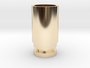 WIDE BORE DRIP TIP (NEEDS O-RING) in 14K Gold
