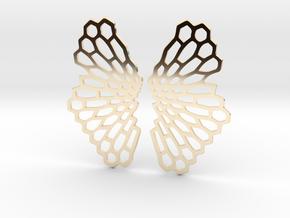 Honeycomb Butterfly Earrings / Pendant in 14K Yellow Gold