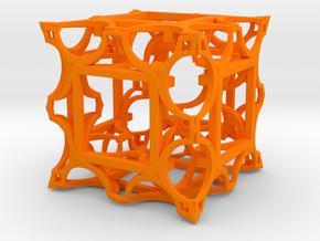 Fractal Box DS42 75mm in Orange Processed Versatile Plastic