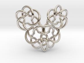 Heart/Skull (small) in Platinum
