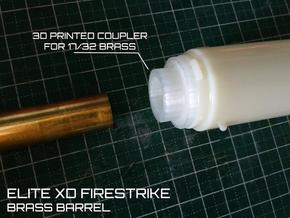 Nerf Firestrike Brass barrel adapter  in White Natural Versatile Plastic