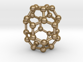 0006 Fullerene c30-1 in Polished Gold Steel