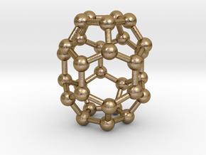 0006 Fullerene c30-1 in Polished Gold Steel