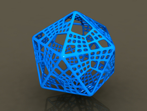 Like Fractal Subdivided Icosahedron in White Strong & Flexible