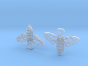 Bee Earrings in Smooth Fine Detail Plastic