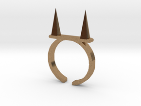 Pickle Fork Ring in Natural Brass