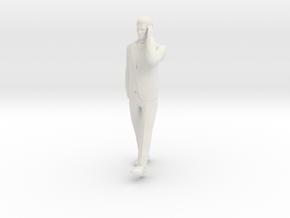 Man Walking 6cm in White Natural Versatile Plastic