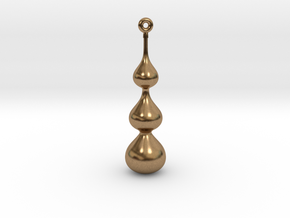 Water Drop Pendant in Natural Brass
