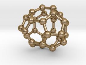 0007 Fullerene c30-2 in Polished Gold Steel