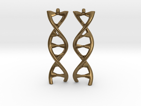 DNA Earring in Natural Bronze