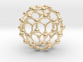 0009 Fullerene c60 ih in 14K Yellow Gold
