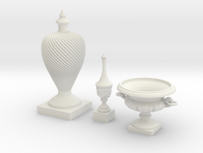 Finial Group in White Natural Versatile Plastic