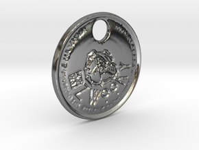 ZWOOKY Style 67  - keychain bully - two sided in Fine Detail Polished Silver