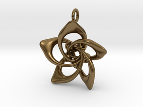 Petal Rings 5 Points - 2.5cm - wLoopet in Natural Bronze