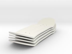 Fingerboard Deck Set (x4) in White Natural Versatile Plastic