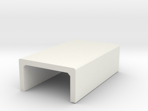 H0 Box Culvert Half Height (size 2) in White Natural Versatile Plastic