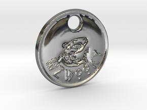 ZWOOKY Style 98 Sample - keychain shark in Fine Detail Polished Silver