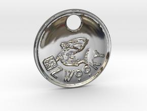 ZWOOKY Style 96 Sample - keychain shark in Fine Detail Polished Silver