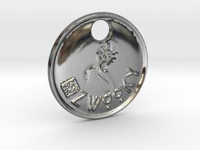 ZWOOKY Style 95 Sample - keychain mermaid in Fine Detail Polished Silver