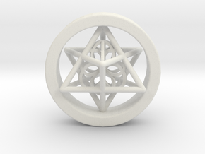 Merkaba Gauge Size 3/4 in White Natural Versatile Plastic