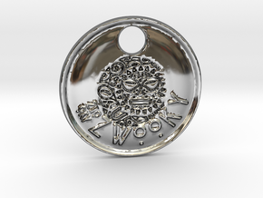 ZWOOKY Style 85 Sample - keychain head in Premium Silver