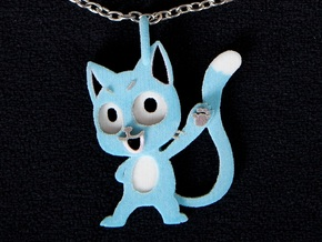 Happy Cat Pendant in Full Color Sandstone