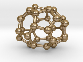 0011 Fullerene c32-2 d2 in Polished Gold Steel