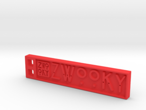 ZWOOKY Style 08 Sample in Red Processed Versatile Plastic