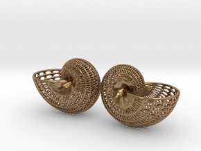 Shell Wireframe Double  in Natural Brass