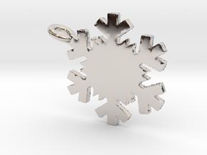 Snowflake Necklace in Platinum