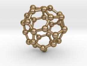 0014 Fullerene c32-5 d3h in Polished Gold Steel