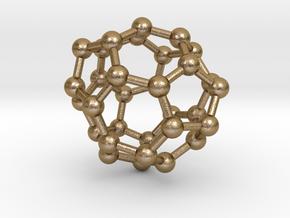 0013 Fullerene c32-4 c2 in Polished Gold Steel