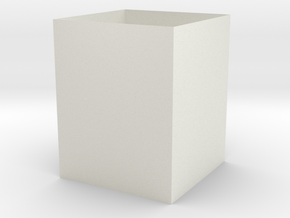 5 Inch Cube in White Natural Versatile Plastic