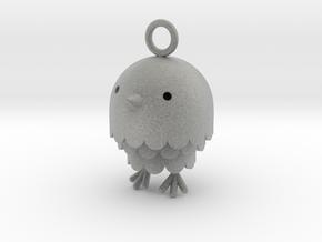 """Peep"" Bird Pendant in Metallic Plastic"