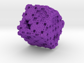 Menger-sierpinsky in Purple Strong & Flexible Polished