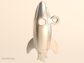 Launch-Me Rocket sans-initials in Polished Bronzed Silver Steel