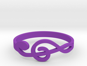 Size 7 G-Clef Ring  in Purple Processed Versatile Plastic