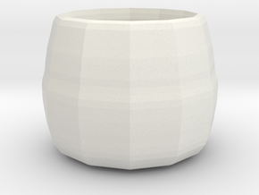 small plant pot in White Strong & Flexible