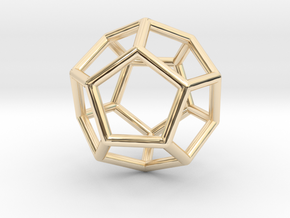 0022 Fullerene c20ih Bonds (Dodecahedron) in 14K Yellow Gold