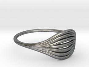 Flow Ring 01  in Fine Detail Polished Silver