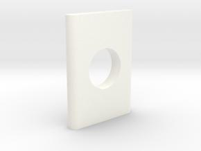 N Scale Bridge Pier #5 in White Processed Versatile Plastic