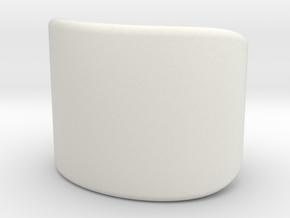 Bangle in White Natural Versatile Plastic
