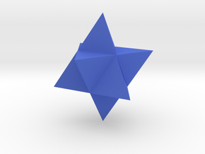 Star Tetrahedron (Merkaba) in Blue Strong & Flexible Polished