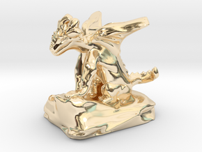 Pseudodragon Companion for Ranger or Warlock in 14K Yellow Gold