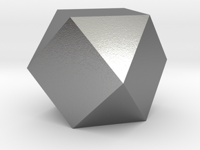 Cube Octahedron (Vector Equilibrium) in Natural Silver