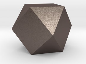 Cube Octahedron (Vector Equilibrium) in Polished Bronzed Silver Steel
