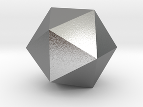 Icosahedron in Natural Silver